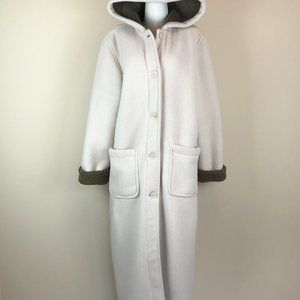 Sandro Teddy Fleece Maxi Coat with Hood